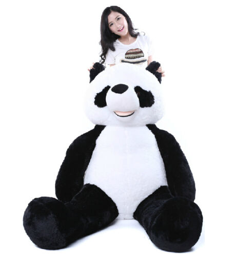 72 39 39 giant hung big panda bear stuffed bolster plush doll. Black Bedroom Furniture Sets. Home Design Ideas