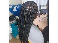 Hair infinity braids.