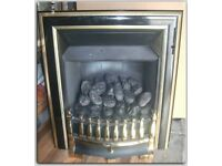 COAL EFFECT GAS FIRE with extras