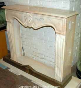 beautiful Marble fireplace mantle