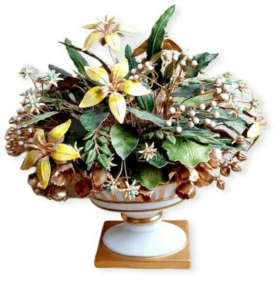 Jane Hutcheson ~ Gorham Fleurs des Siècles Jeweled Enameled Metal Art Flowers
