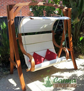 Outdoor-Timber-Hanging-Chair-Swinging-Chair-Swing-Bench-Waterproof-Canopy