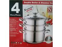 Double boiler & steamer set