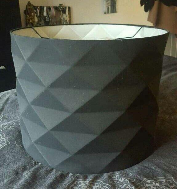Large Black Geometric Lightshade