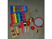 Selection of percussion instruments