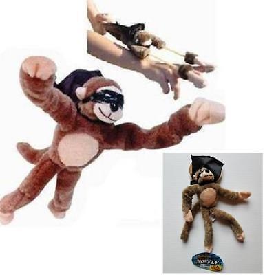 Flying Screaming Slingshot (NEW PLAYMAKER TOYS SLINGSHOT FLYING SCREAMING MONKEY TOY plush flingshot dog G21 )
