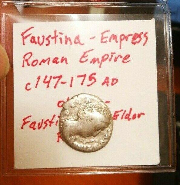 Roman Empire Faustina Empress SILVER Yr. 147-175 AD (Cool !!)