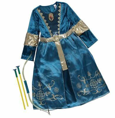 NEW Girls Disney Princess Brave Merida Fancy Dress Up Costume