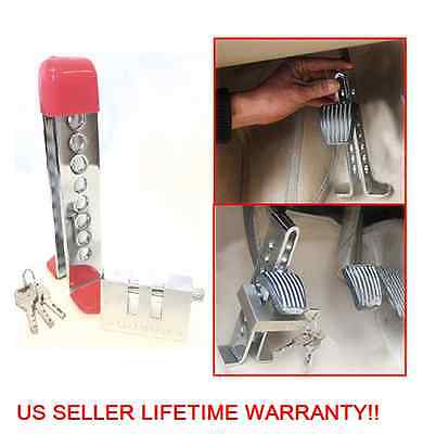 C03 Brake Pedal Lock Security Car Auto Stainless Steel Clutch Lock Anti-theft