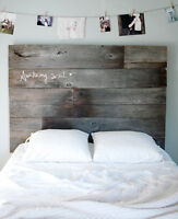Custom made vintage Barnwood Headboards for sale!