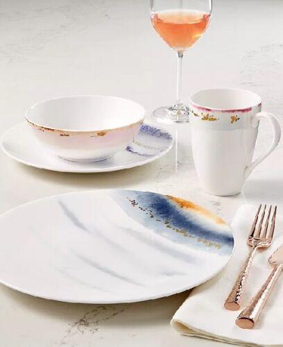 Lenox Watercolor Horizons Dinnerware Indigo Blue Plate, Bowl +++