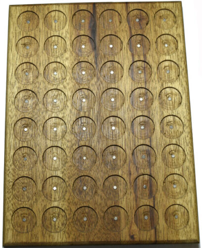 PATHTAG GEOCOIN DISPLAY - HICKORY - HOLDS 48 TAGS - NEW - MADE IN USA