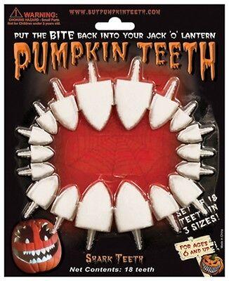 Halloween Pumpkin Teeth - Shark Teeth 2 Styles - Fun Easy Pumpkin - Fun Easy Halloween Decorations
