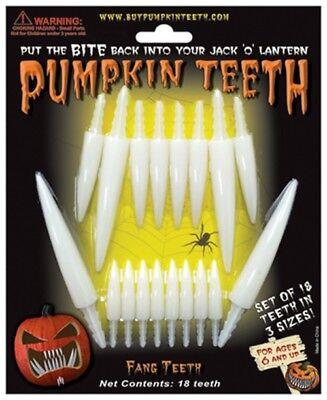 Halloween Pumpkin Teeth - Fang Teeth 4 Styles - Fun Easy Pumpkin - Fun Easy Halloween Decorations