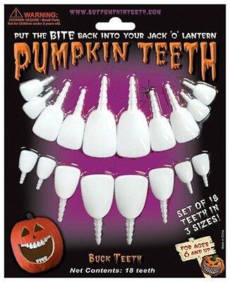 Halloween Pumpkin Teeth - Buck Teeth 3 Styles - Fun Easy Pumpkin - Fun Easy Halloween Decorations