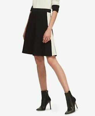 DKNY Skirt A Line Black White Colorblock Sz S NEW NWT