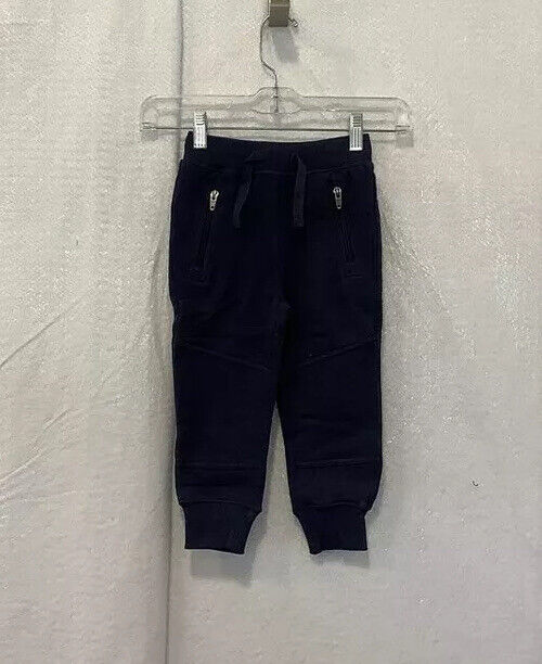 Hanna Andersson Baby Boys Sweatpants Black Heathered Drawstring Pockets 3T New