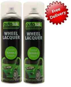 2-X-ALLOY-WHEEL-LACQUER-CLEAR-PAINT-SPRAY-500ML-LAQUER-BODYSHOP-REPAIR
