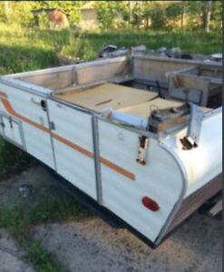 Old pop up tent trailer base