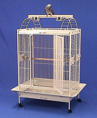 "X Large Lodge Open Play Top Parrot Bird Wrought Iron Cage 36""W x 26""D X 68""H 444"