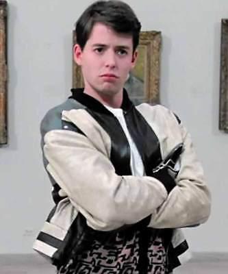Ferris Bueller's Day Off Matthew Broderick Biker Leather Jacket