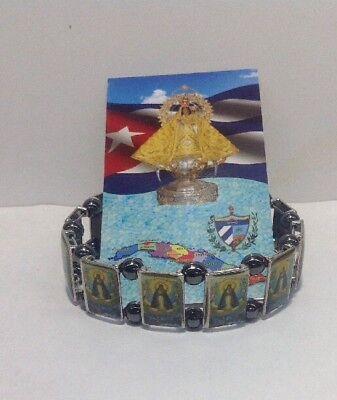 Caridad del Cobre Pulsera Metalica Lady of Charity tal Bracelet Cuba Catholic