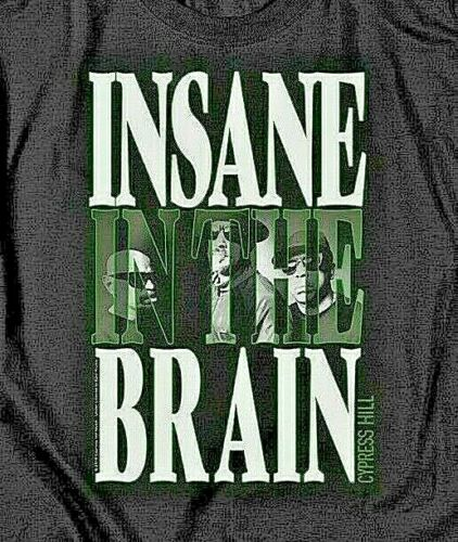 "Cypress Hill ""Insane In The Brain"" Mens Unisex T-Shirt -Available Sm to 5x"