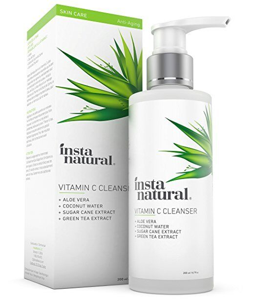InstaNatural Glycolic Facial Cleanser - Anti Wrinkle, Fine L