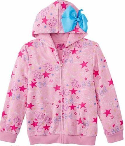 Brand New JoJo Siwa Girls Hoodie Bow Unicorn Pink Zippered Jacket Hooded (7/8)
