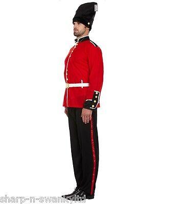 Erwachsene Herren Rot Schwarz London Pelzmütze Wächter Soldaten Armee