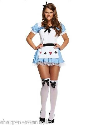 Damen Sexy Alice Im Wunderland Tea Party Prinzessin Kostüm Kleid Outfit