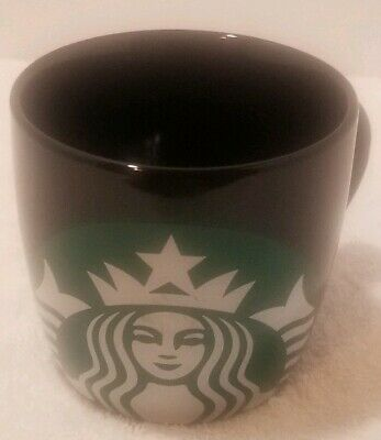 Starbucks Coffee Mug Black Green Siren Mermaid Big Logo Icon 14 Oz 2017