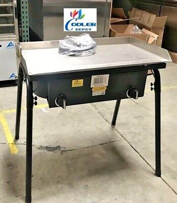 New 30 Outdoor Flat Top Griddlew 2 Burner Stove Taco Meats Bbq Breakfast Grill