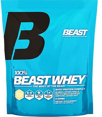 whey protein 2 Lbs Vanilla by Beast Sports Nutrition