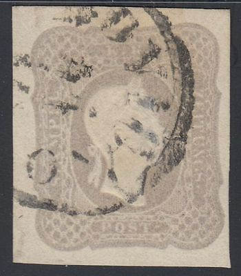 Österreich 1861 Nr. 23 e Zeitungsmarke bräunlichlila gestempelt Befund VÖB