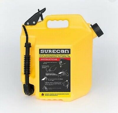 Surecan 5 Gallon Diesel Can Yellow 19 Liter Fast Ship