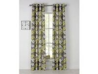 2 pairs of curtains unlined 168x229cm