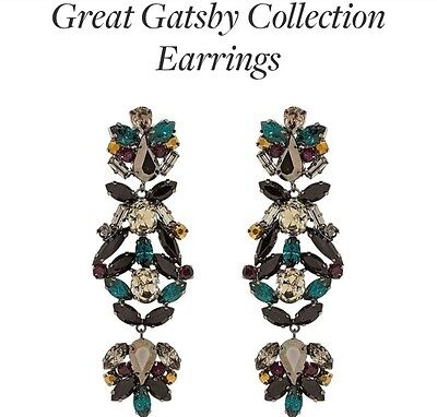 Joanna Laura Constantine Gatsby Crystal Statement Earrings ~ NWT ~ Retail $346