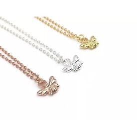 Manchester bee necklace chain pendant charm gold silver rose gold