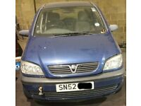 Vauxhall Zafira Bonnet Breaking For Parts (2002)