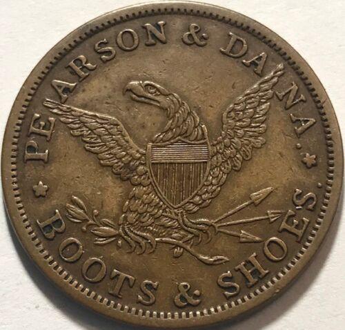 Chicago, IL - Pearson & Dana - Storecard Trade Token - 1858-1860 - NICE!