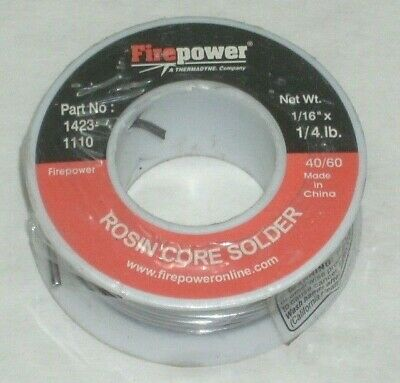 Victor Firepower 1423-1110 Rosin Core Solder 4060 116 Diameter 14 Lb Roll