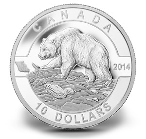 Monnaie 10$ 2014 Grizzly
