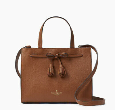 Kate Spade New York Hayes Satchel Crossbody Purse Handbag Brown Bow