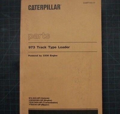 Cat Caterpillar 973 Track Loader Parts Manual Book 91l Catalog Spare Xmbp7055-01