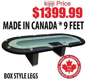 POKER TABLE 9 FOOT SPS PRO GRAND BLACK DEALER PROFESSIONAL SERIE