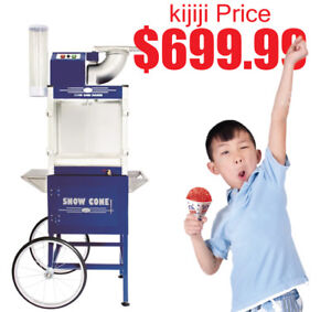 SNOW CONE MACHINE WITH CART - COMMERCIAL GRADE 2018 MODEL