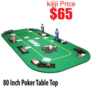 8 Player Poker Table Top 80 Inch Green BRAND NEW IN BOX!