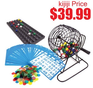 BINGO GAME SET DELUXE 6-INCH BINGO GAME WITH COLORED BALLS, 300