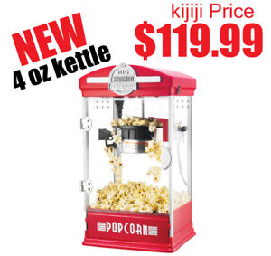 New Big Bambino Table Top Retro Machine Popcorn Popper, 4 oz